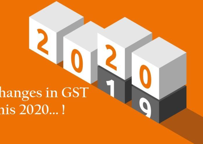 GST changes 2020
